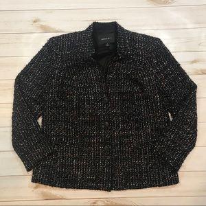 Lafayette 148 size 14 collar blazer wool metallic